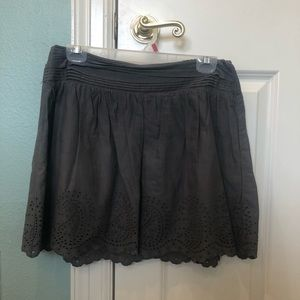 American Eagle Outfitters AEO Gray Eyelet Skirt